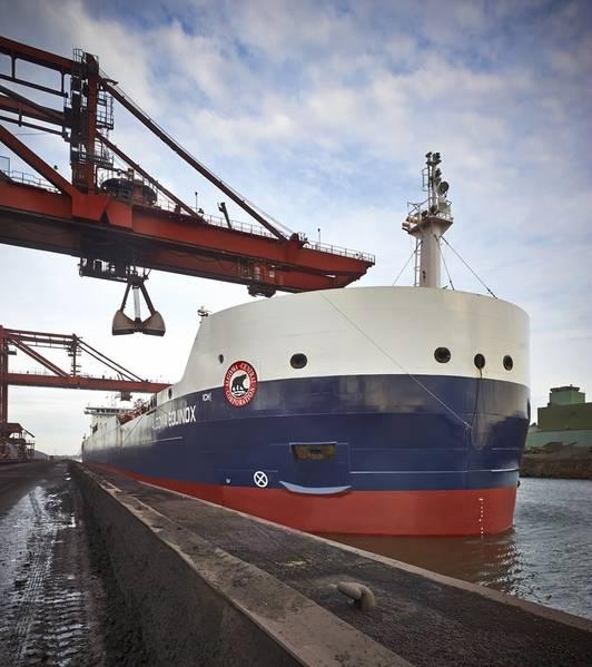 Ένα φορτηγμένο πλοίο St. Lawrence Seaway (SLSMC)