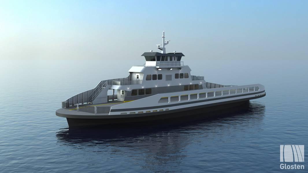 Το ηλεκτρικό πορθμείο / οχηματαγωγό πλοίο για το Skagit County της Ουάσινγκτον. Φωτογραφίες: Glosten