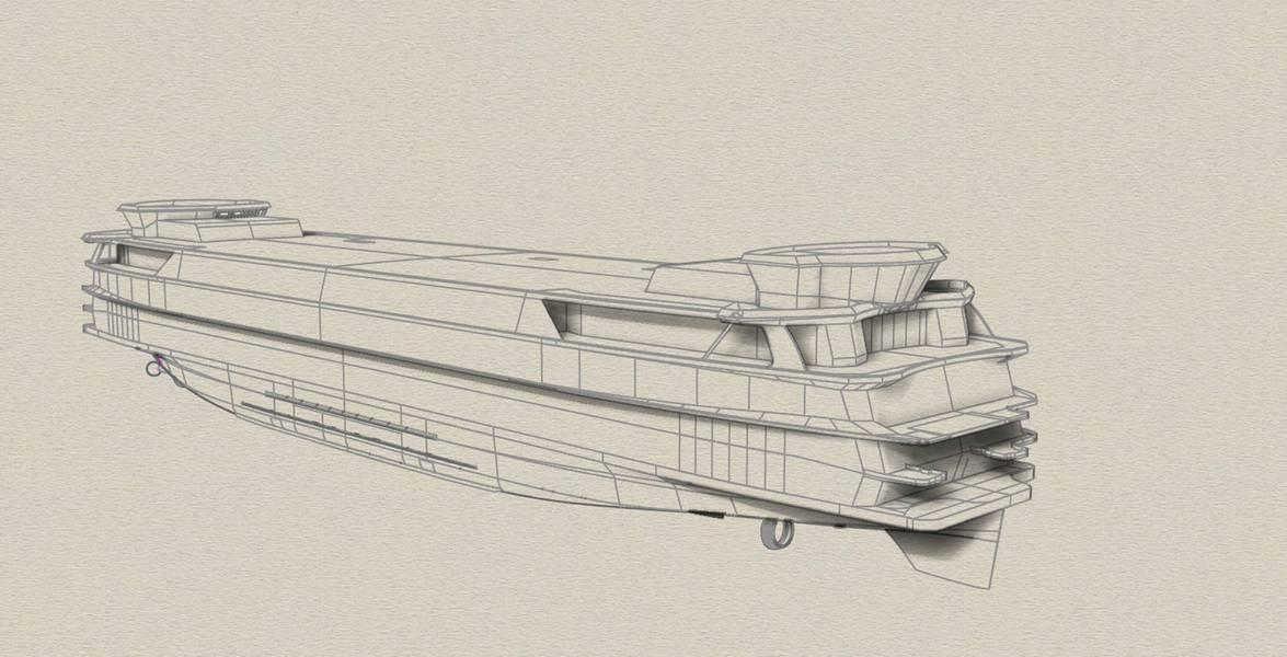 Чертежи инновационного TESO Ferry Texelstroom. Изображение предоставлено C-Job