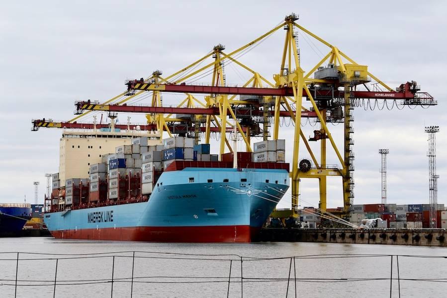 «Я думаю, что эти инвестиции дают сильный сигнал о типах технологий, которые будут определять морскую индустрию в будущем», - сказал П. Майкл Родей, старший менеджер AP Moller-Maersk. В первом квартале компания Sea Machines приступит к испытаниям своей технологии восприятия и ситуационной осведомленности на одном из новых контейнеровозов ледового класса AP Moller-Maersk. Изображение: Морские Машины