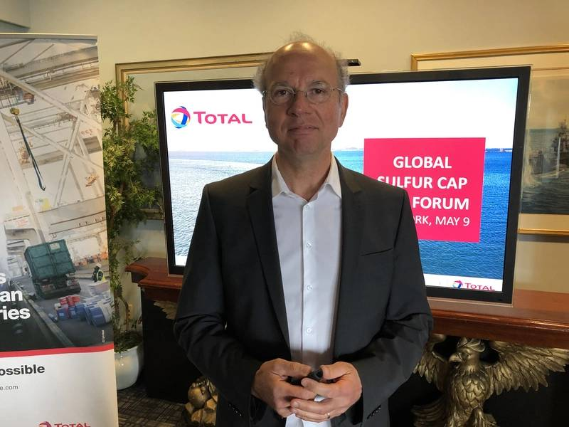 سيرج دال فرا ، مدير التسويق العالمي ، توتال لوبمارين. الصورة: جريج تراوثوين