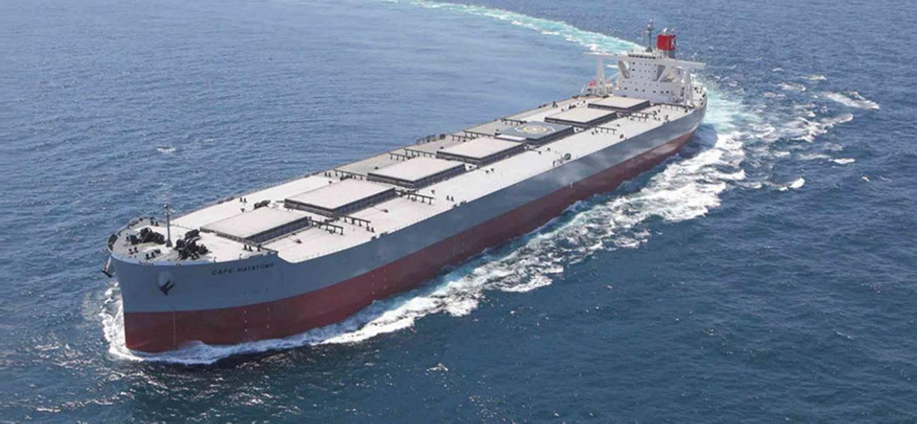 """ड्राई बल्क कैरियर """"K"""" लाइन के बेड़े के बहुमत (195 जहाज / 25.3 मिलियन DWT) हैं। फोटो: """"के"""" रेखा"""