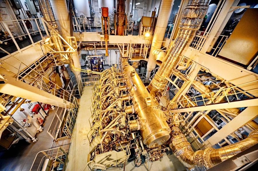 मेथनॉल की शक्ति को महसूस करें: इन 49,000 dwt वाहिकाओं को MAN B & W ME-LGIM दो स्ट्रोक दोहरे ईंधन इंजनों की दूसरी पीढ़ी के साथ बनाया गया है जो मेथनॉल और पारंपरिक समुद्री ईंधन दोनों पर चल सकते हैं। फोटो: मेथानेक्स कॉर्पोरेशन