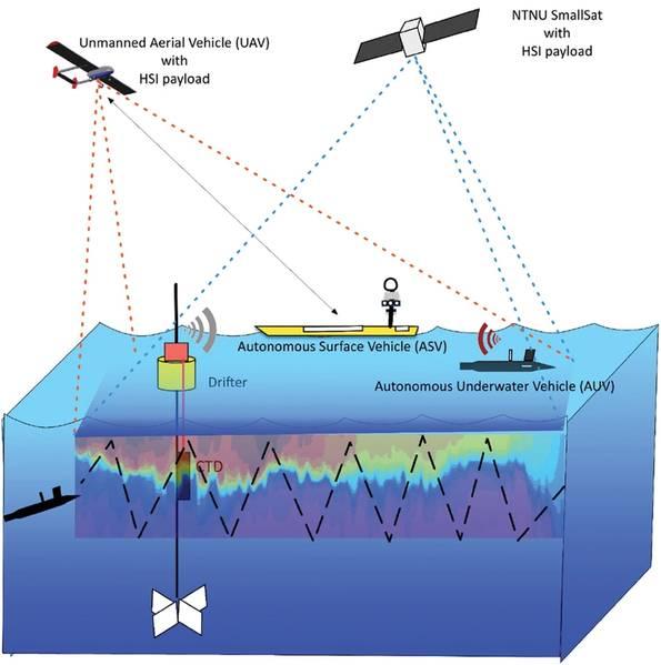 Adicionando profundidade: a gama completa de vistas do oceano. Ilustrações cortesia da professora Kanna Rajan