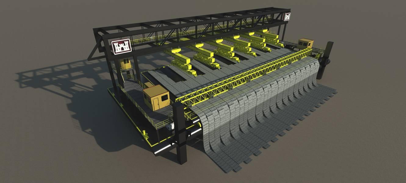 BHG war an einem Projekt beteiligt, bei dem ein Roboter-Startdeck für Mattenboote entworfen wurde, um die Sicherheit gefährlicher Arbeiten zu erhöhen. Bildnachweis: Bristol Harbour Group, Inc.
