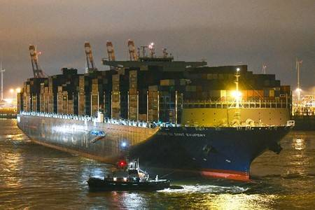 CMA CGM Antoine de Saint Exupery Foto cortesía del Puerto de Hamburgo