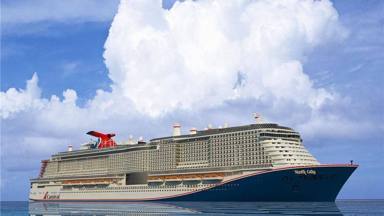 Der 6.500-Gäste-LNG-angetriebene Mardi Gras der XL-Klasse Carnival wurde nach dem ersten Karneval, dem ersten Schiff der Carnival Cruise Line, das 1972 in Dienst gestellt wurde, benannt. Zweimal so groß wie das erste Mardi Gras, wird es von LNG betrieben Cape Canaveral.