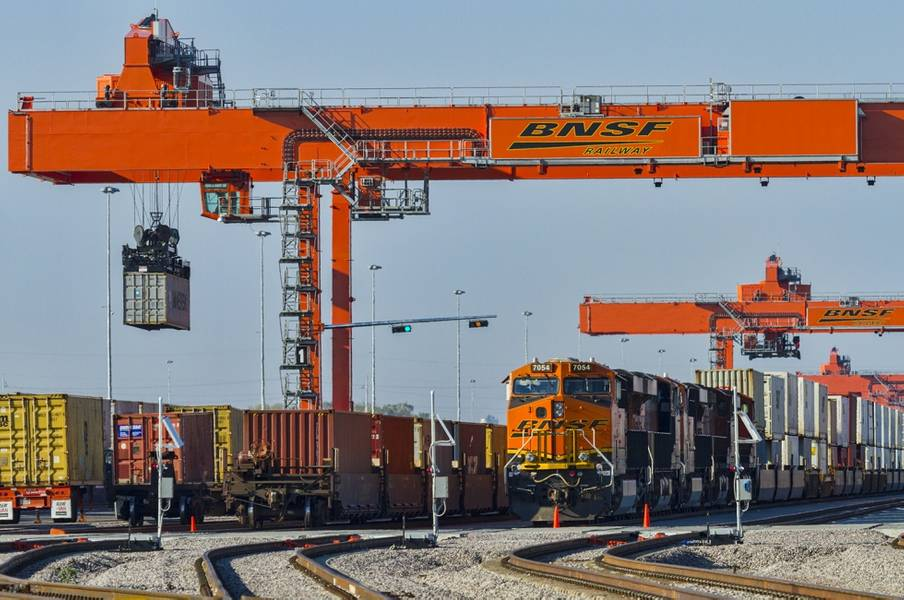 Der BNSF Logistics Park Kansas City in Edgerton, Kansas.