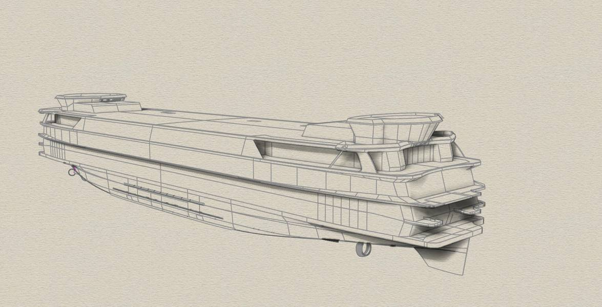 Dibujos del innovador TESO Ferry Texelstroom. Imagen cortesía de C-Job