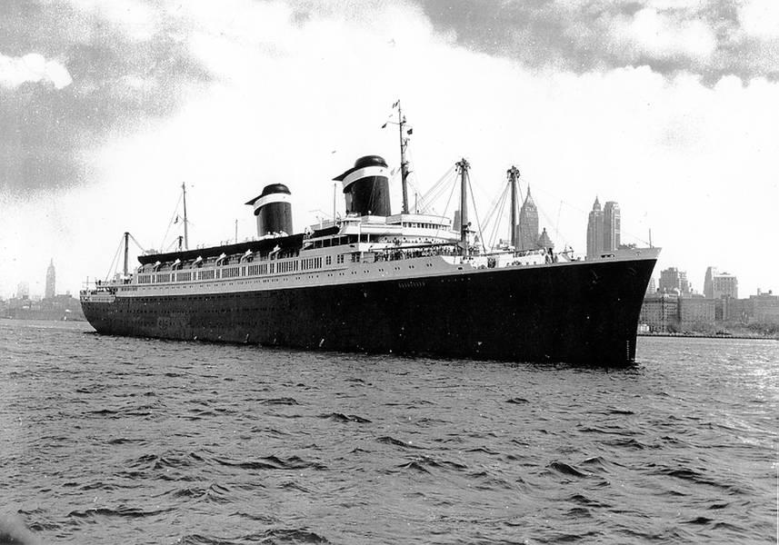 Os SS Estados Unidos. Foto: Gibbs & Cox