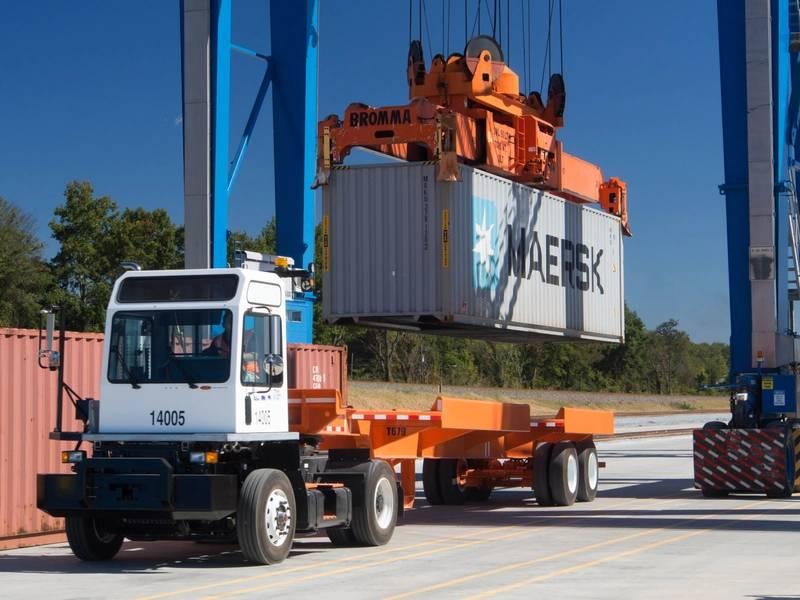 Intermodaler Containerbetrieb bei SC Ports (CREDIT: SC Ports)