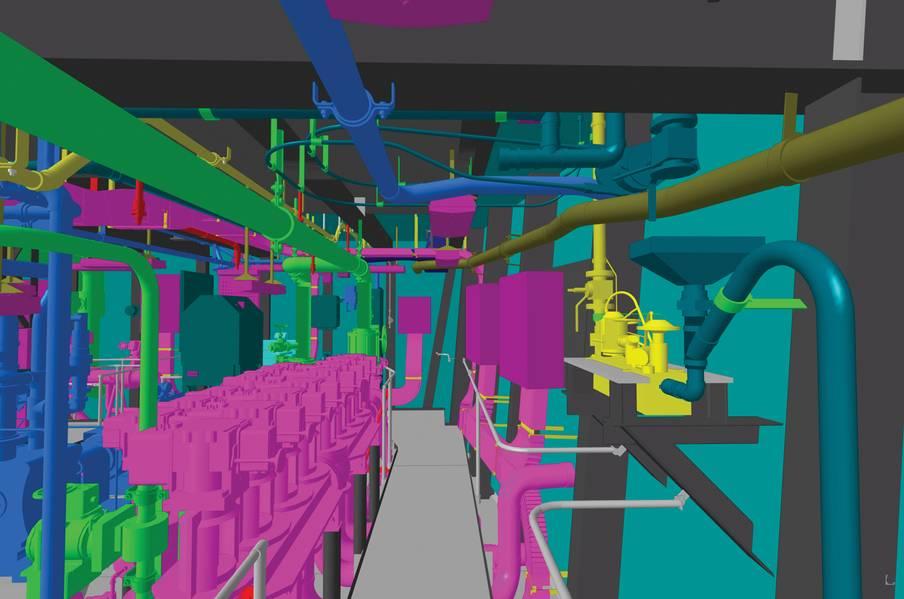 Northrop Grumman Shipbuilding hat die Entwicklung der Detail-Design-Phase für den Gerald R. Ford (CVN 78) im 3-dimensionalen Produktmodell abgeschlossen. Bild: HII / NNS
