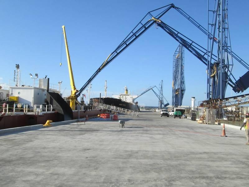 Nueva superficie de concreto en North Cargo Piers 1 y 2 de Port Canaveral (Foto: Autoridad Portuaria de Canaveral)