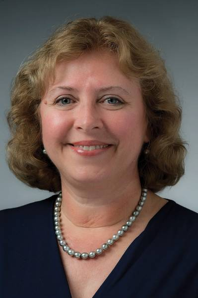 Suzanne Beckstoffer, eine versierte technische Leiterin und Geschäftsfrau, die erste Frau Präsidentin in der 125-jährigen Geschichte von SNAME. Foto: HII / NNS