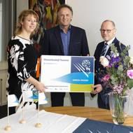 Left to right: Mariska ten Heuw, alderman Hengelo; Gerry Waanders, manager Twente Port Authority and Jan Fransen, Executive Director/Green Award Foundation (Photo: Green Award Foundation)