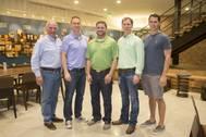(l-r): Hank Danos, Paul Danos, Scott Theriot, Mark Danos and Eric Danos (Photo: Danos)