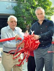 L-R Olav Eek Thorstensen, Executive Chairman of the Thome Group officially opens the training facility with his son Claes Eek Thorstensen, President and COO of the Thome Group (Photo: Thome)
