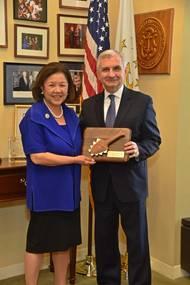 Senator Reed and Irene Hirano Inouye (Photo: Daniel K. Inouye Institute)
