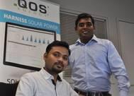 QOS Energy project Engineers Navdej SINGH and Shankar KUMAR. (Photo: QOS Energy)