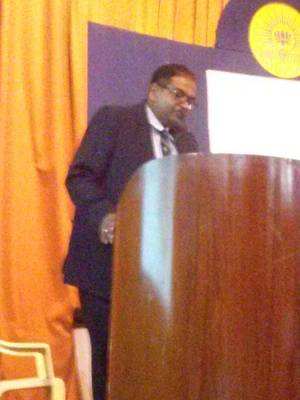 Capt Philip Mathews, Master of CMMI delivering his address