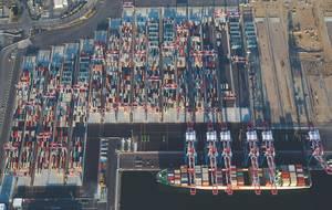 LBCT 1st Ship Aerials (Photo: Port of Long Beach)