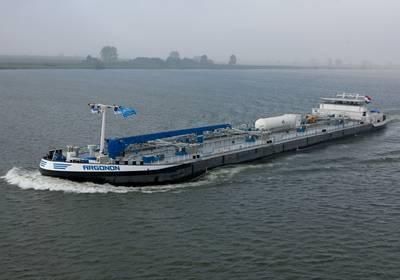 MT Argonon, a 6,100-dwt dual-fueled chemical tanker.