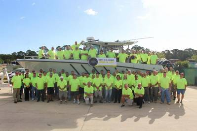 Team BCGP celebrates their safety milestone with an employee gathering last Friday, April 14th.  (Photo: BCGP)