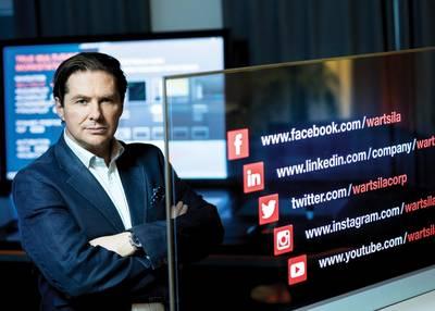 Μάρκο Ράιαν, Διευθυντής Ψηφιακής Λειτουργίας & EVP, Wärtsilä. Φωτογραφία: Wärtsilä