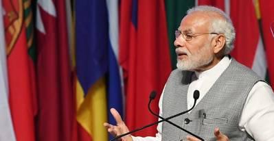 印度总理纳伦德拉莫迪。照片PIB