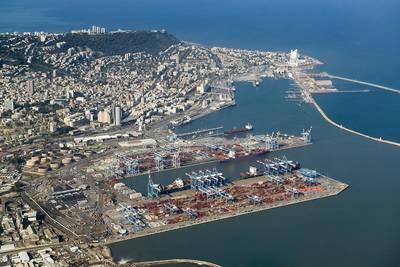 照片:海法港口公司