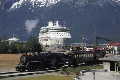(Φωτογραφία ευγένεια White Pass & Yukon Διαδρομή)