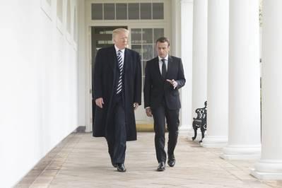 2018年4月にトランプ大統領とメクロン大統領(Shealah Craigheadによる公式ホワイトハウス写真)