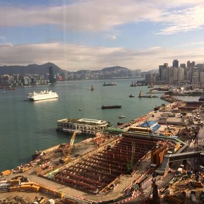 Comércio e porto ocupado de Hong Kong. CRÉDITO: Joseph Keefe