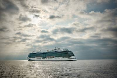 Fincantieri建造的Majestic Princess于2017年进入Princess Cruises服务(文件照片:Princess Cruises)