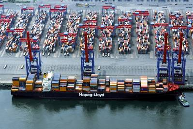 Foto do arquivo do Yantian Express (Foto: Hapag Lloyd)