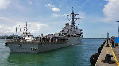 Imagen de archivo del USS John McCain (Crédito: US Navy)