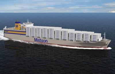 Imagen de archivo: una embarcación reciente de Matson new (CREDIT Matson)