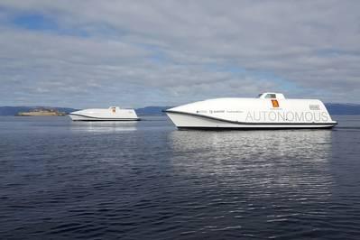 KONGSBERGs Ocean Space Drones 1 und 2 werden Testplattformen im H2H-Projekt sein (Bild: KONGSBERG)