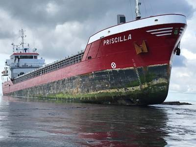 MVプリシラ。写真:Hm Coastguard、THURSO RNLI