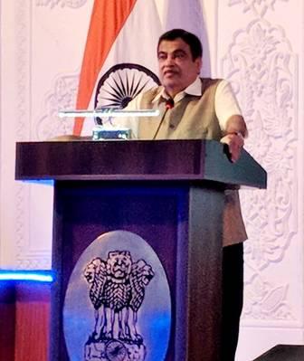 Nitin Gadkari, ministro indiano dos transportes marítimos. Foto: PIB