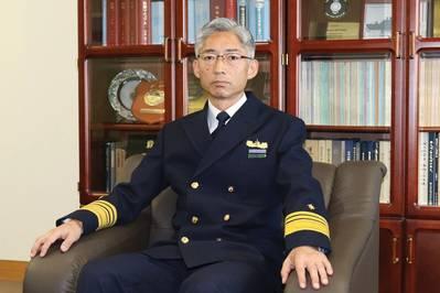 Shuichi Iwanami, διοικητής, ακτοφυλακή της Ιαπωνίας. Φωτογραφία: JCG