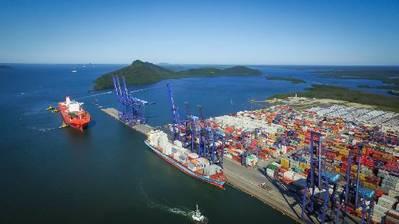 Terminal de Container de Paranaguá (TCP) no Brasil Foto cortesia do China Merchants Group