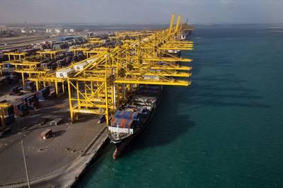 DP World目前在迪拜拥有五个航站楼,其中三个位于旗舰杰贝阿里港。图片来源:DP World