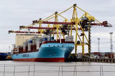 """""""Acho que este investimento envia um forte sinal sobre os tipos de tecnologias que virão a definir a indústria marítima no futuro"""", disse P. Michael A. Rodey, gerente sênior da AP Moller-Maersk. No primeiro trimestre, a Sea Machines iniciará o teste de sua tecnologia de percepção e percepção situacional a bordo de um dos novos navios porta-contêineres de classe de gelo da AP Moller-Maersk. De Stock: Máquinas do mar"""