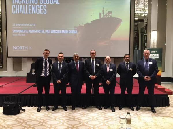 Новые торговые санкции против Ирана и новые правила в отношении топлива в 2020 году для всего морского сектора были заголовками семинара, организованного морским страховым клубом North P & I Club в Дубае в Тадж-Дубае. Фото: Северный клуб P & I.