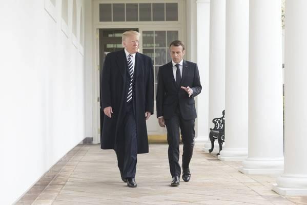 الرئيس ترامب والرئيس ماكرون في أبريل 2018 (الصورة الرسمية للبيت الأبيض من قبل شيالة كريغيد)