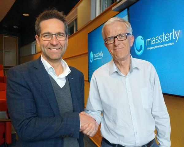"""شركة الشحن المستقل قامت """"ماسستيرلي"""" بتعيين """"توم إيستو"""" (يسار) كمدير إداري و """"بير برينسمان"""" رئيسًا لمجلس إدارة الشركة (تصوير: ماسسترلي)"""