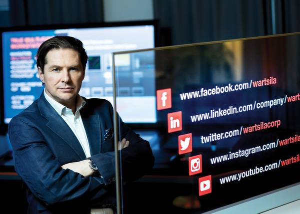 मार्को रयान, मुख्य डिजिटल अधिकारी और ईवीपी, वार्त्स्ला। फोटो: Wärtsilä