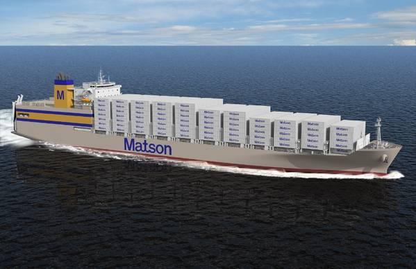 文件图片:最近的Matson新建船(CREDIT Matson)