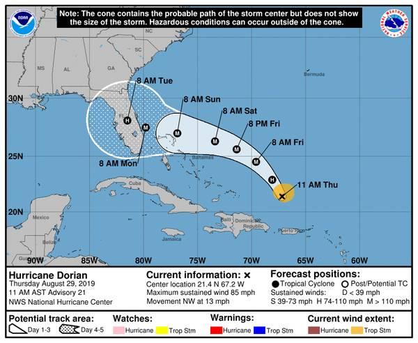 来源:NOAA /国家飓风中心
